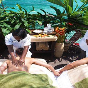Jamaica Honeymoon Packages Sandals Ochi Beach Resort Outdoor Couple Massage