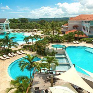 Jamaica Honeymoon Packages Sandals Ochi Beach Resort Pool Overview