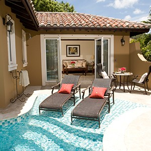 Private Pool - Sandals Antigua Grande Resort and Spa - Luxury Antigua Honeymoons