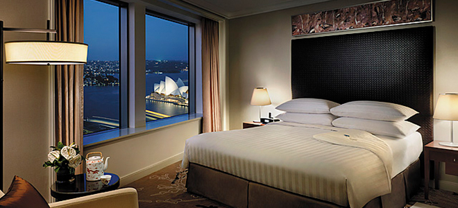 Shangri-La Sydney - bedroom