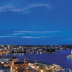 Shangri-La Sydney - view night