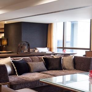 Thailand Honeymoon Packages Banyan Tree Bangkok One Bedroom Suite Living Area