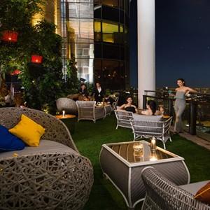 Thailand Honeymoon Packages Banyan Tree Bangkok Saffron Sky Garden At Night