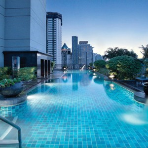 Thailand Honeymoon Packages Banyan Tree Bangkok Spa Sanctuary Suite Rooftop Pool