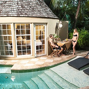 courtyard - Sandals Antigua Grande Resort and Spa - Luxury Antigua Honeymoons