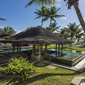 Constance Lemuria - Luxury Seychelles Honeymoon Packages - Beach villa with pool exterior