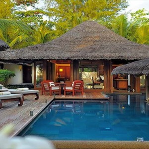 Constance Lemuria - Luxury Seychelles Honeymoon Packages - Beach villa with pool exterior pool