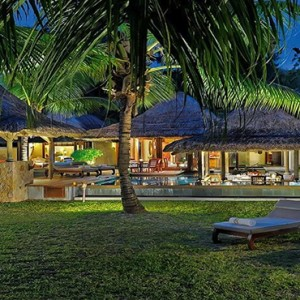 Constance Lemuria - Luxury Seychelles Honeymoon Packages - Beach villa with pool exterior1