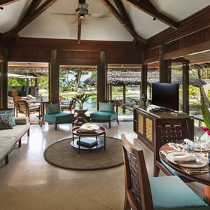 Constance Lemuria - Luxury Seychelles Honeymoon Packages - Beach villa with pool lounge