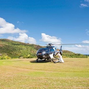 Constance Lemuria - Luxury Seychelles Honeymoon Packages - Helipad view