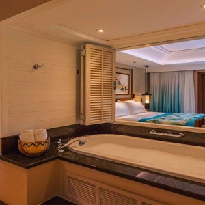 Constance Lemuria - Luxury Seychelles Honeymoon Packages - Junior Suite bathroom 1