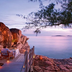 Constance Lemuria - Luxury Seychelles Honeymoon Packages - Nest dinner on the rocks