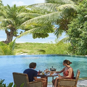 Constance Lemuria - Luxury Seychelles Honeymoon Packages - Pool lunch