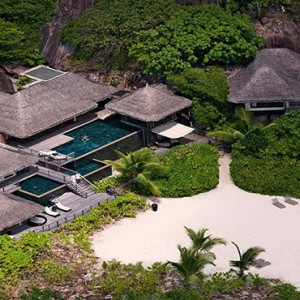 Constance Lemuria - Luxury Seychelles Honeymoon Packages - Presidential villa aerial view