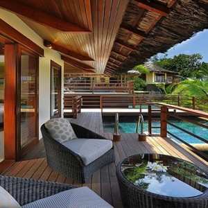 Constance Lemuria - Luxury Seychelles Honeymoon Packages - Presidential villa exterior deck