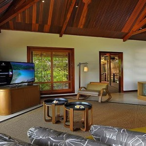 Constance Lemuria - Luxury Seychelles Honeymoon Packages - Presidential villa lounge