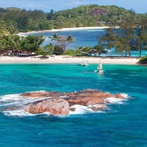 Constance Lemuria - Luxury Seychelles Honeymoon Packages - aerial view1