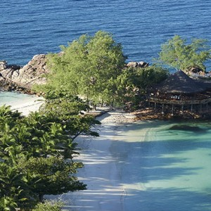 Constance Lemuria - Luxury Seychelles Honeymoon Packages - island overview