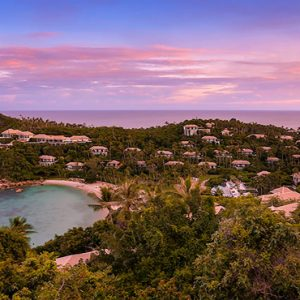 Thailand Honeymoon Package Banyan Tree Samui Hotel Aerial View Sunset