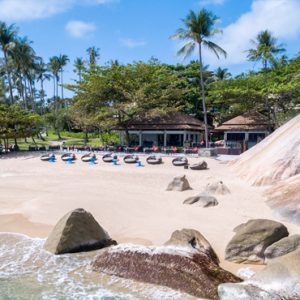 Thailand Honeymoon Package Banyan Tree Samui Al Fresco Dining On The Beach