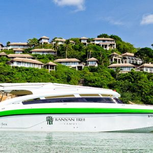 Thailand Honeymoon Package Banyan Tree Samui Resort Boat