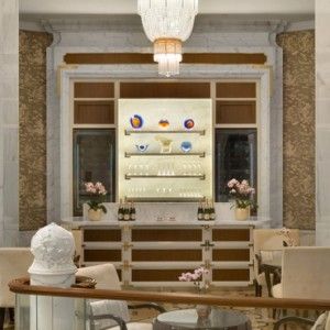 champagne bar - shangri la singapore - luxury singapore honeymoon packages