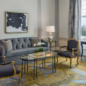 Luxury New York holiday The Plaza New York Carnegie Partial Park View Two Bedroom Suite King