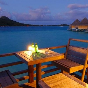 7 End Of Pontoon Horizon Overwater Villa - Intercontinental Bora Bora Le Moana Resort - Luxury Bora Bora Honeymoon Packages