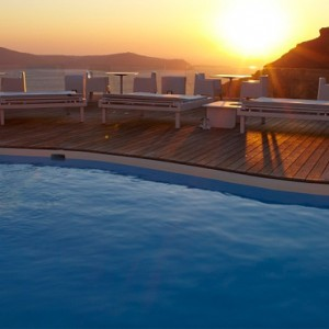 Pool 6 - sun Rocks Hotel Santorini - luxury santorini honeymoon packages