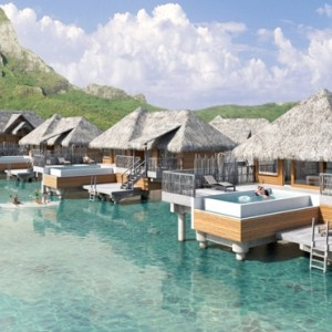 Pool Premium Overwater Villa - InterContinental Bora Bora Resort and Thalasso Spa - Luxury Bora Bora honeymoon Packages