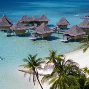 beach- Intercontinental Bora Bora Le Moana Resort - Luxury Bora Bora Honeymoon Packages