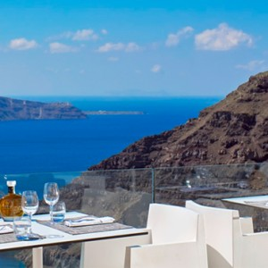 dining - sun Rocks Hotel Santorini - luxury santorini honeymoon packages