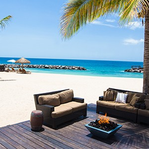 Beach Lounge - Sandals LaSource Grenada - Luxury Grenada Honeymoons
