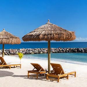 Beach Loungers - Sandals LaSource Grenada - Luxury Grenada Honeymoons