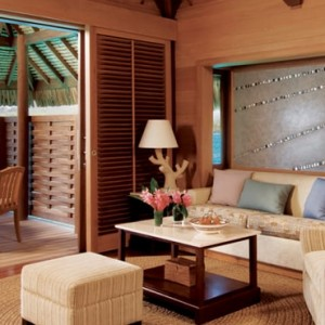 4 One Bedroom Beach View Overwater Bungalow suite - Four Seasons Bora Bora - Luxury Bora Bora Honeymoon Packages