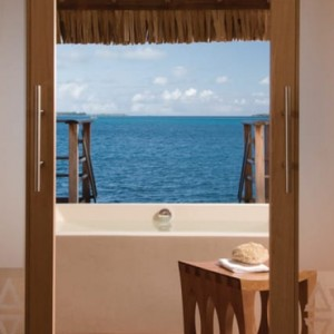 6 One Bedroom Beach View Overwater Bungalow suite - Four Seasons Bora Bora - Luxury Bora Bora Honeymoon Packages