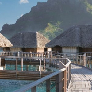 One Bedroom Lagoon View Overwater Bungalow Suite - Four Seasons Bora Bora - Luxury Bora Bora Honeymoon Packages