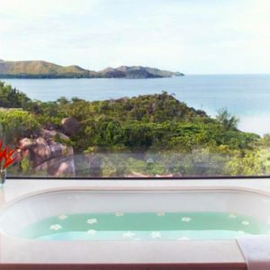 Seychelles Honeymoon Packages Raffles Seychelles One Bedroom Panoramic View Villa Bathroom View 2