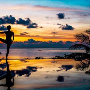 Thailand Honeymoon Packages The Tongsai Bay, Koh Samui Yoga At Sunset