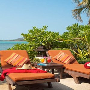 Thailand Honeymoon Packages Rockys Boutique Resort, Koh Samui Sun Loungers