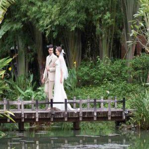 Thailand Honeymoon Package Anantara Mai Khao Phuket Villas Bride And Groom