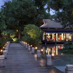 Thailand Honeymoon Package Anantara Mai Khao Phuket Villas Lobby View At Night