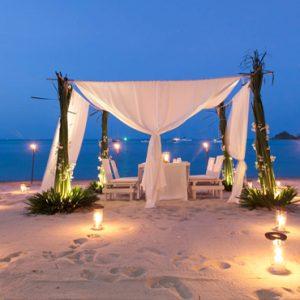 Thailand Honeymoon Packages SALA Samui Choengman Beach Resort Private Dining