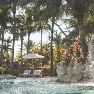 Bahamas Honeymoon Packages The Ocean Club, A Four Seasons Resort Waterfall In Pool
