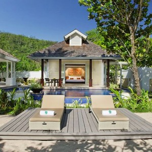 Banyan Tree Seychelles - Luxury Seychelles Honeymoon Packages - Beachfront Pool Villa exterior