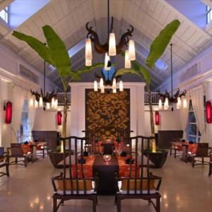 Banyan Tree Seychelles - Luxury Seychelles Honeymoon Packages - Chez lamar restaurant interior