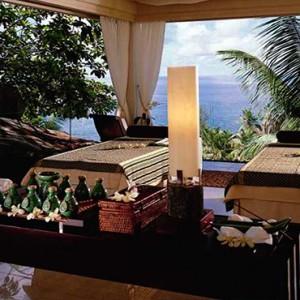 Banyan Tree Seychelles - Luxury Seychelles Honeymoon Packages - Couple spa room1