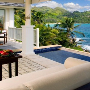 Banyan Tree Seychelles - Luxury Seychelles Honeymoon Packages - Intendance Bay View Pool Villa exterior
