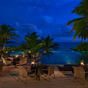Banyan Tree Seychelles - Luxury Seychelles Honeymoon Packages - Restaurant at night
