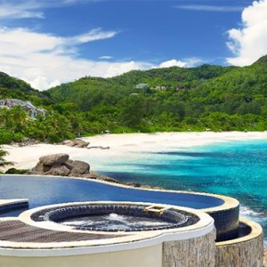 Banyan Tree Seychelles - Luxury Seychelles Honeymoon Packages - Royal Banyan Ocean View Pool Villa (1 bedroom) pool with view